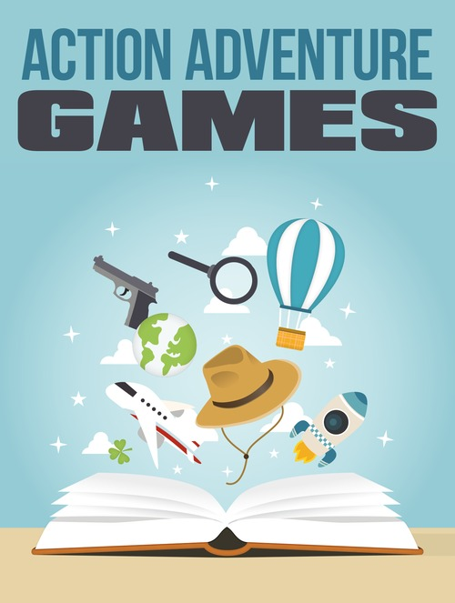 Product picture Action Adventure Games - Master Resell Rights eBook MRR